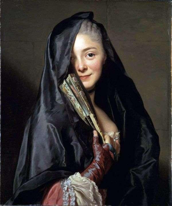 ベールを持つ女性   Alexander Roslin