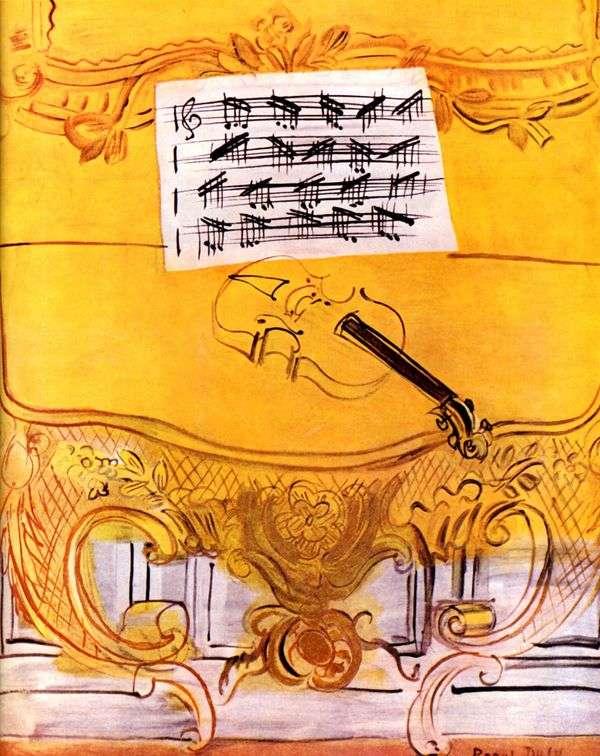 バイオリンと黄色のハーモニウム   ラウル・デュフィ