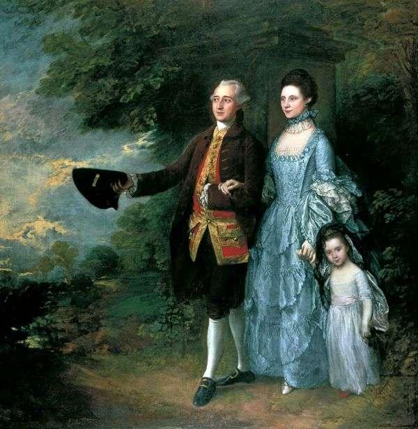 GeorgeとLouise Beamと彼女の娘のサラ   Thomas Gainsborough