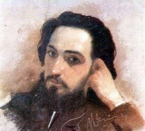 V. M. Garshin   Grigory Myasoedovの肖像画