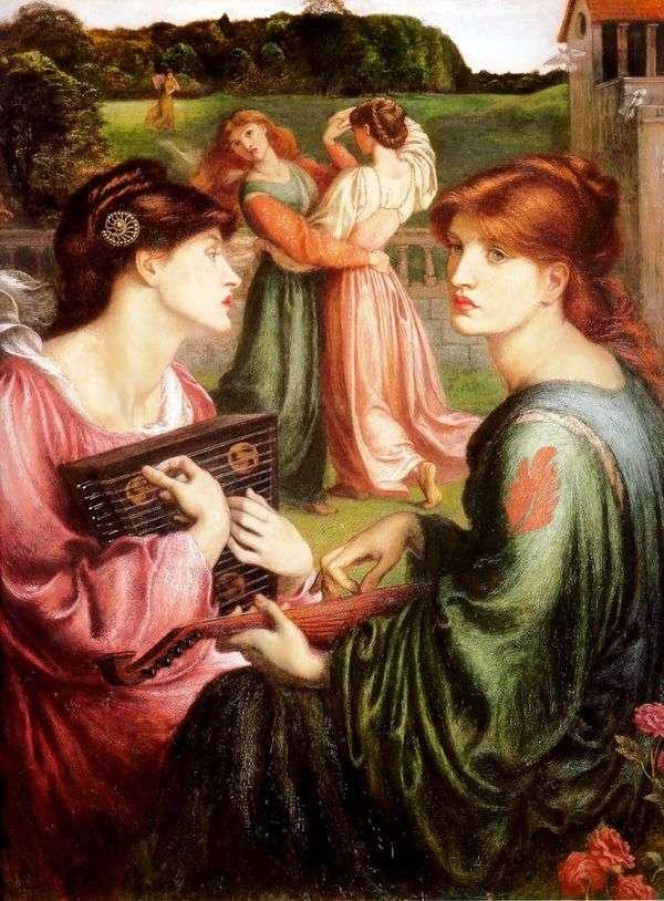 ガゼボの芝生   Dante Rossetti