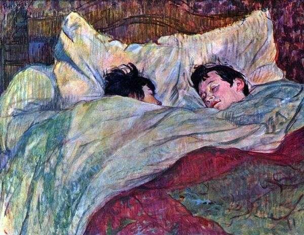 ベッドの中で二人の女の子   アンリ・ド・トゥールーズ=ロートレック