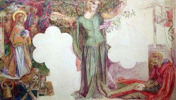 ランスロット卿のビジョン   Dante Rossetti