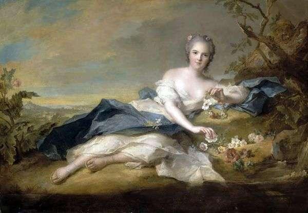 フローラの衣装でフランスのアンリエッタ   Jean Marc Nattier