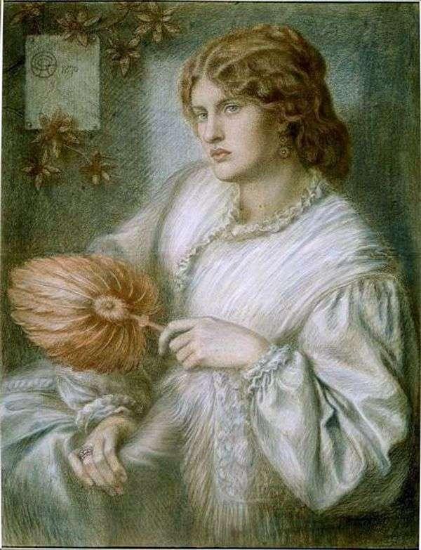 ファンを持つ女性   Dante Rossetti