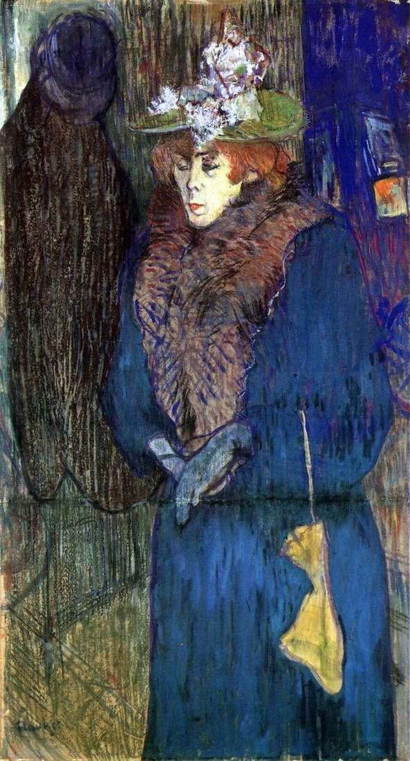 Jane Avril、ムーランルージュの一部   アンリドトゥールーズロートレック