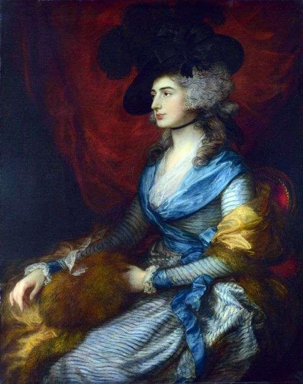 女優サラ・シドドンズの肖像   Thomas Gainsborough
