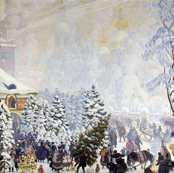 クリスマスバーゲン   Boris Kustodiev