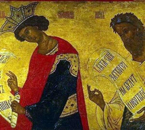 預言者ソロモン王とエゼキエル王の絵
