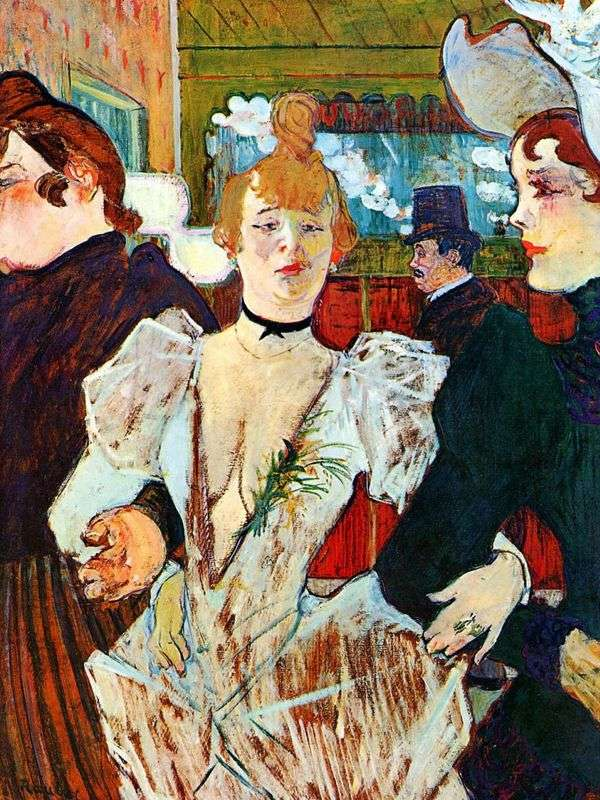 2人の女性とムーランルージュに入るLa Gulay   Henri de Toulouse Lautrec