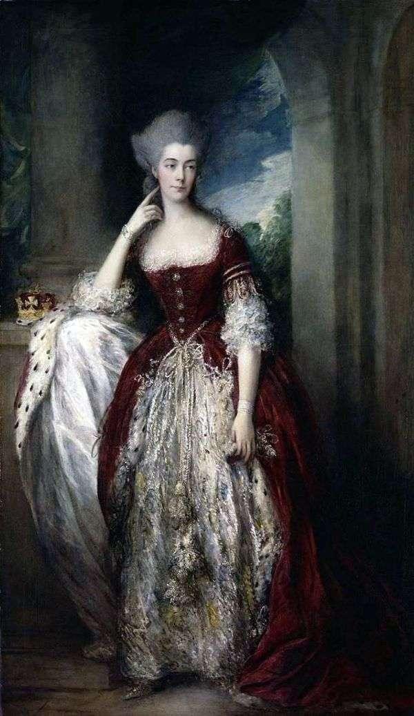 アン、カンバーランド公爵夫人とストレム   トーマス・ゲインズバラの肖像