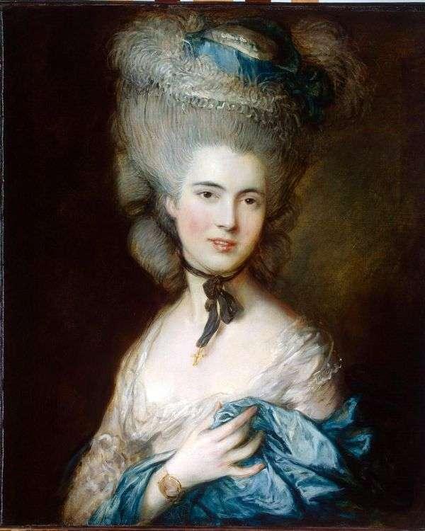 ボーフォート公爵夫人の肖像(レディ・イン・ブルー)   Thomas Gainsborough