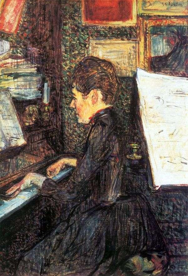 マドモアゼル・ディオ、ピアノ   アンリ・ド・トゥールーズ=ロートレック