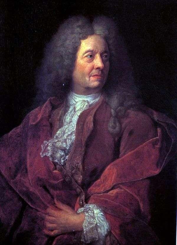 赤   18世紀初頭のフランス人マスターの男の肖像