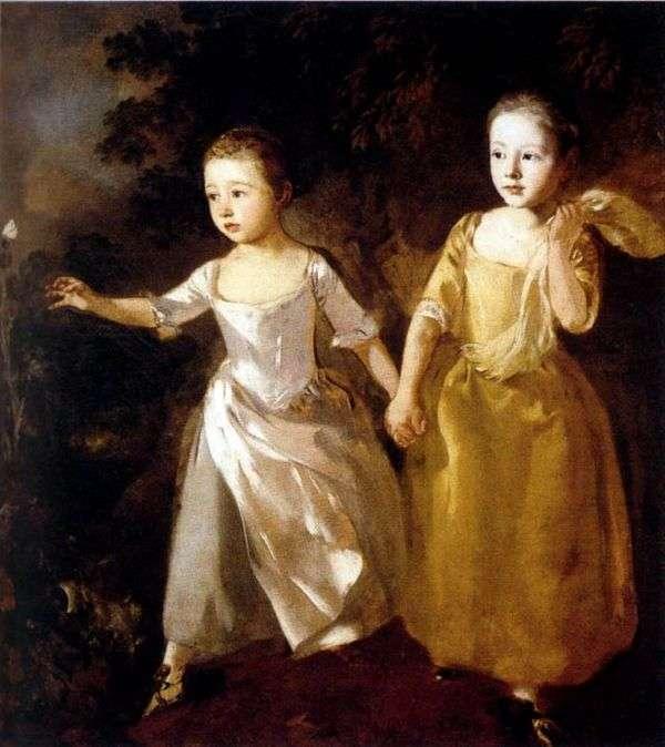 アーティストの娘の肖像   Thomas Gainsborough
