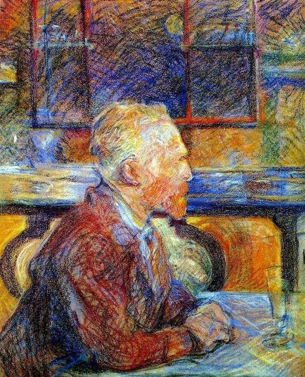 Vincent van Gogh   アンリ・ド・トゥールーズ=ロートレックの肖像