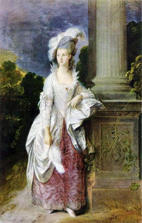 グラハム夫人の肖像   トーマス・ゲインズバラ