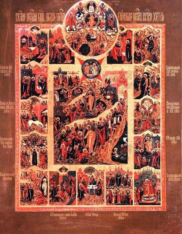 キリストの復活、唯一の忘れられた息子の光景、そして12の特徴のある休日
