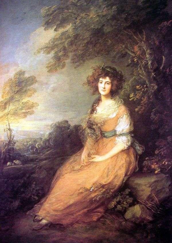 エリザベスシェリダン夫人の肖像   Thomas Gainsborough