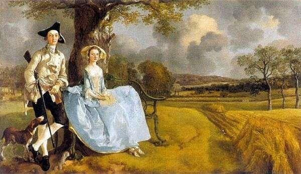 アンドリュース氏の妻との肖像   Thomas Gainsborough