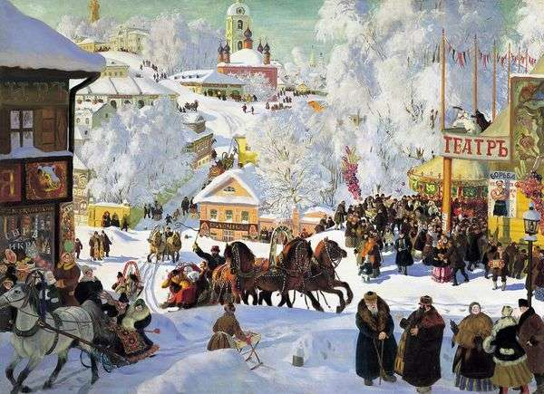 Maslenitsa(パンケーキスケート)   Boris Kustodiev