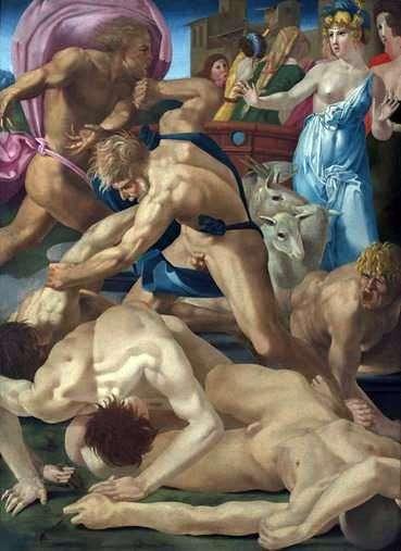 モーセ、ジェトロの娘たちを守る   フィオレンティーノ・ロッソ