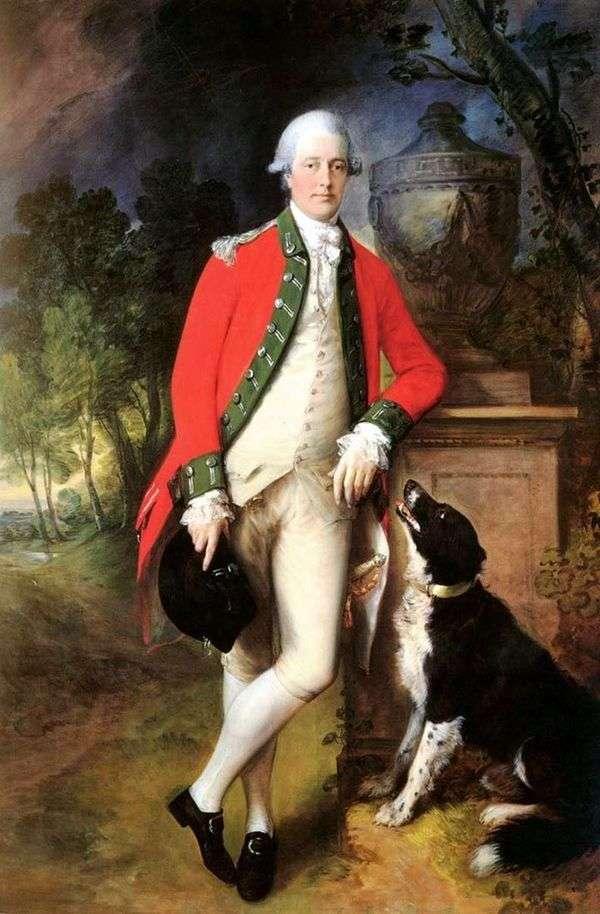 ジョンブロブロック大佐の肖像   Thomas Gainsborough