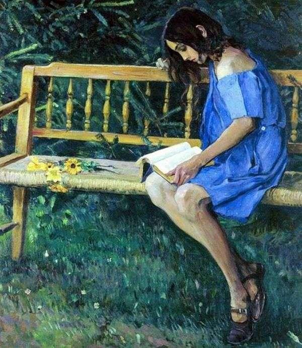ナターシャ庭のベンチ   Mikhail Nesterov