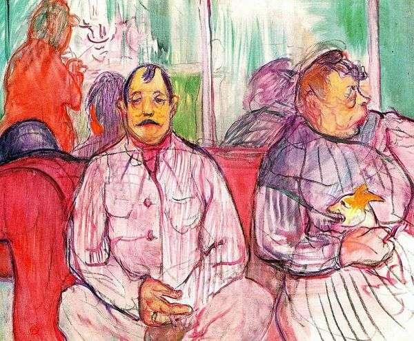 売春宿の番人   Henri de Toulouse Lautrec