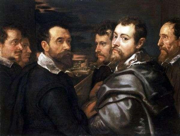 Mantuanの友達との自画像   Peter Rubens