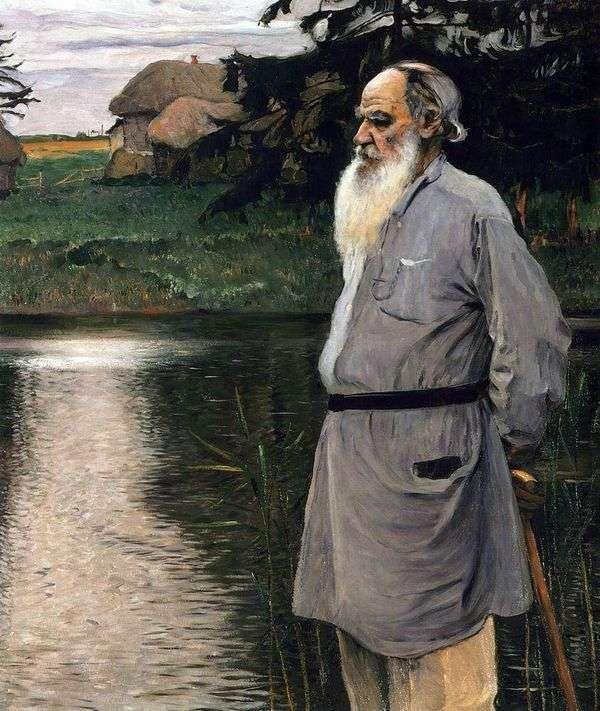 L. N. トルストイの肖像   ミハイル・ネステロフ