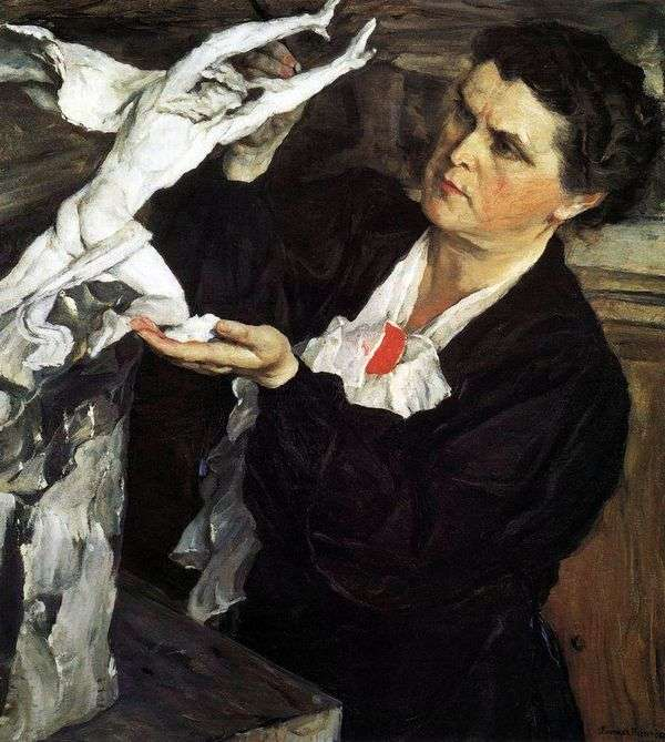 彫刻家の肖像V. I. Mukhina   ミハイル・ネステロフ