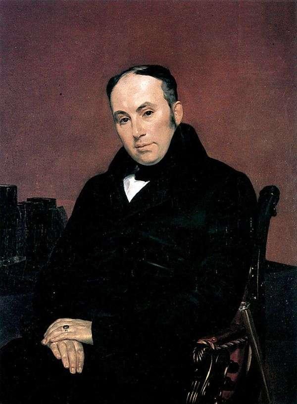V. A. Zhukovsky   Karl Bryullovの肖像画