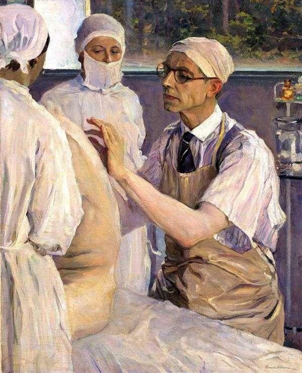 外科医セルゲイユディンの肖像   ミハイルネステロフ