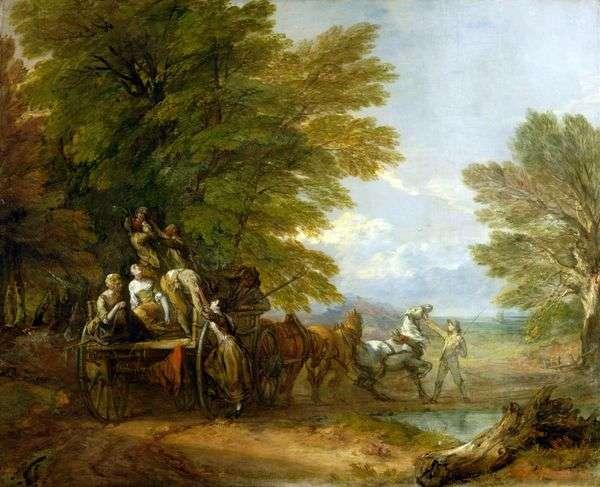 収穫カート   Thomas Gainsborough