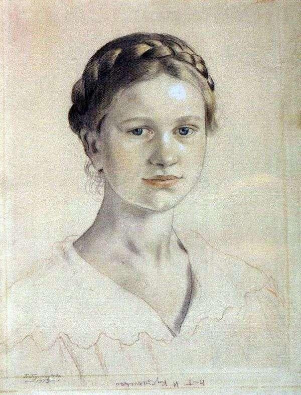 I. B. Kustodiyev   Boris Kustodievの肖像画