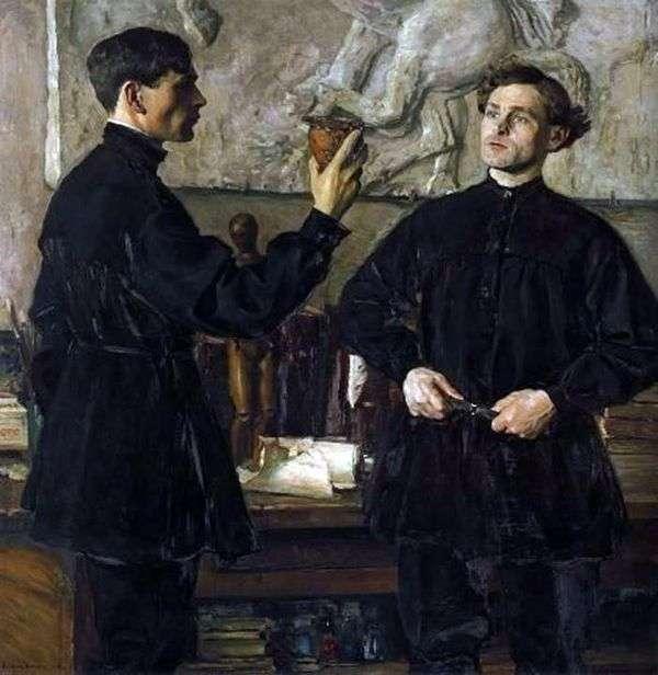 芸術家P. D. とA. D. Korinykhの肖像   ミハイル・ネステロフ
