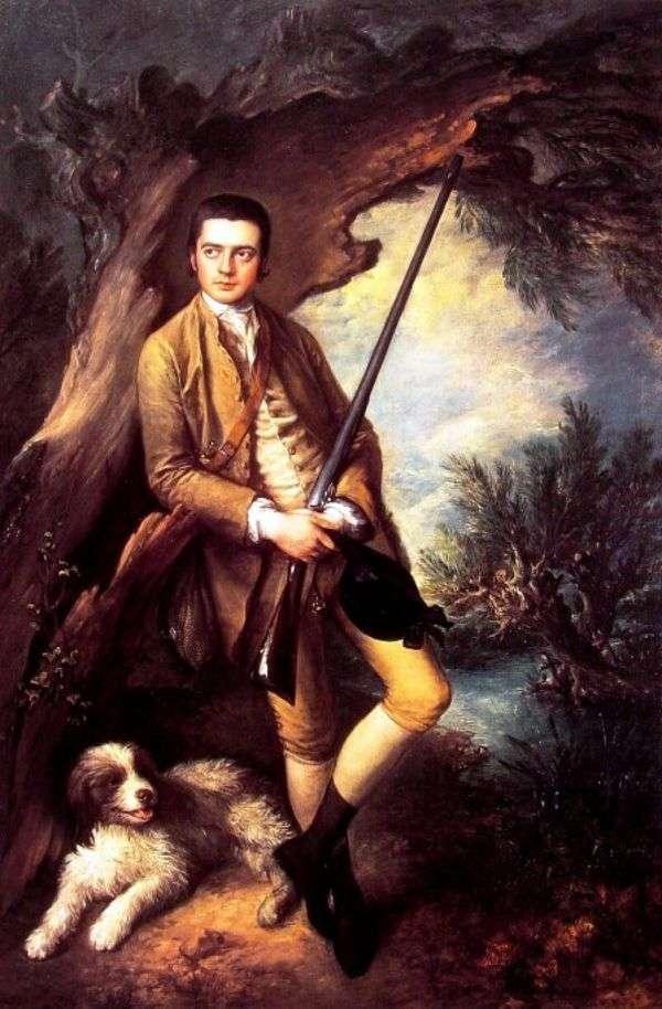 Midzhhemと彼の犬からのWilliam Pointアンバー   Thomas Gainsborough