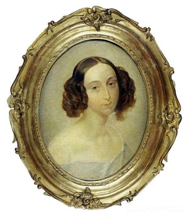 大公妃オルガニコラエヴナ   カールブリョロフの肖像