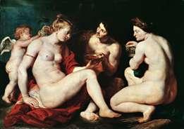 金星、キューピッド、バッカス、セレス   Peter Rubens