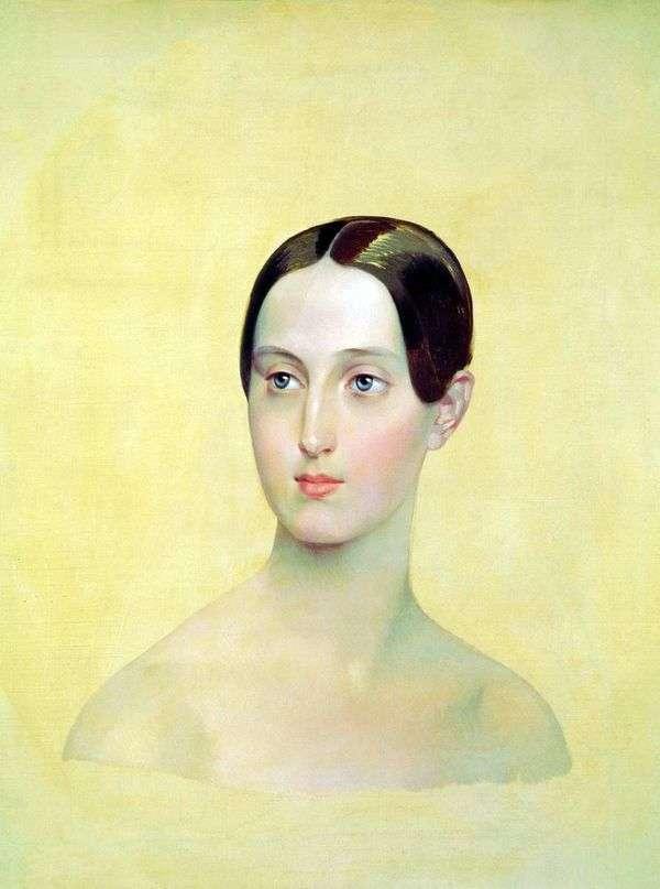 大公妃Maria Nikolaevna   Karl Bryullovの肖像画