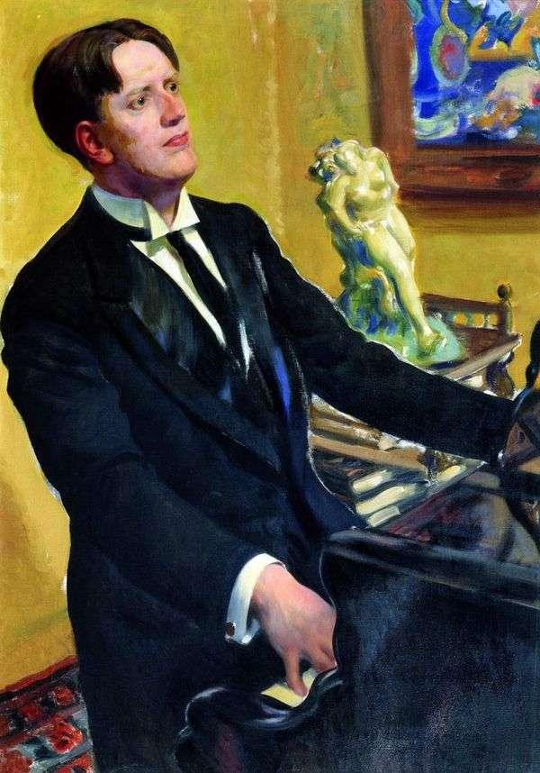 作曲家D. V. Morozov   Boris Kustodievの肖像画