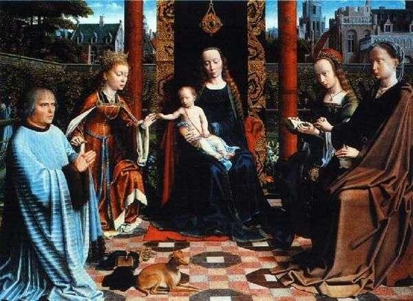 子供、聖人と寄付者とのマドンナ   David Gerard