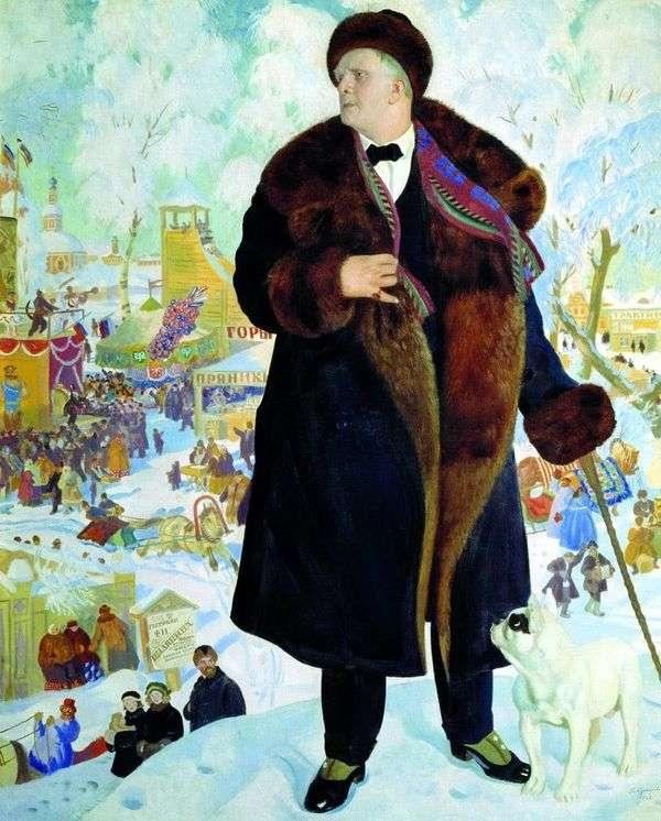 Chaliapin   Boris Kustodievの肖像画