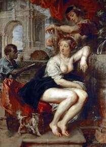 噴水でバトシェバ   Peter Rubens
