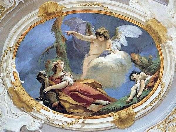 砂漠のハガル   Giovanni Battista Tiepolo