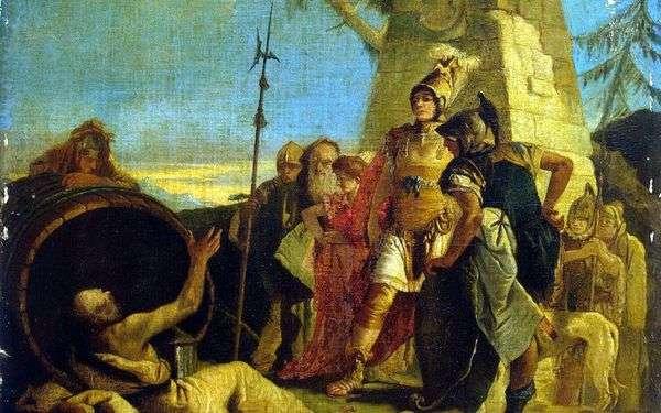 アレキサンダー大王とディオゲネス   ジョバンニ・バッティスタ・ティエポロ