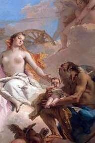 金星と時間の寓意   Giovanni Battista Tiepolo