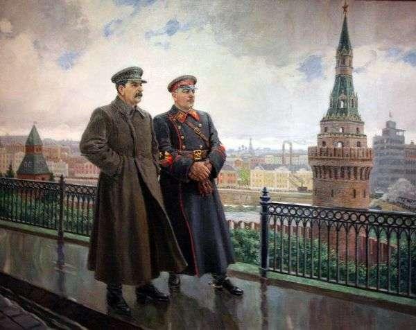 JV StalinとK. Ye。Voroshilov inクレムリン   Alexander Gerasimov