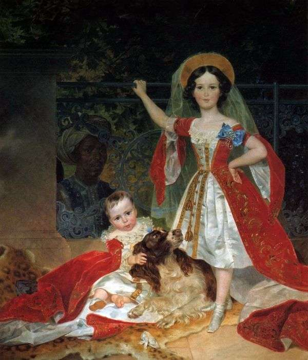 アラップと   プリンスボルコンスキーの子供たちの肖像画   カールBryullov
